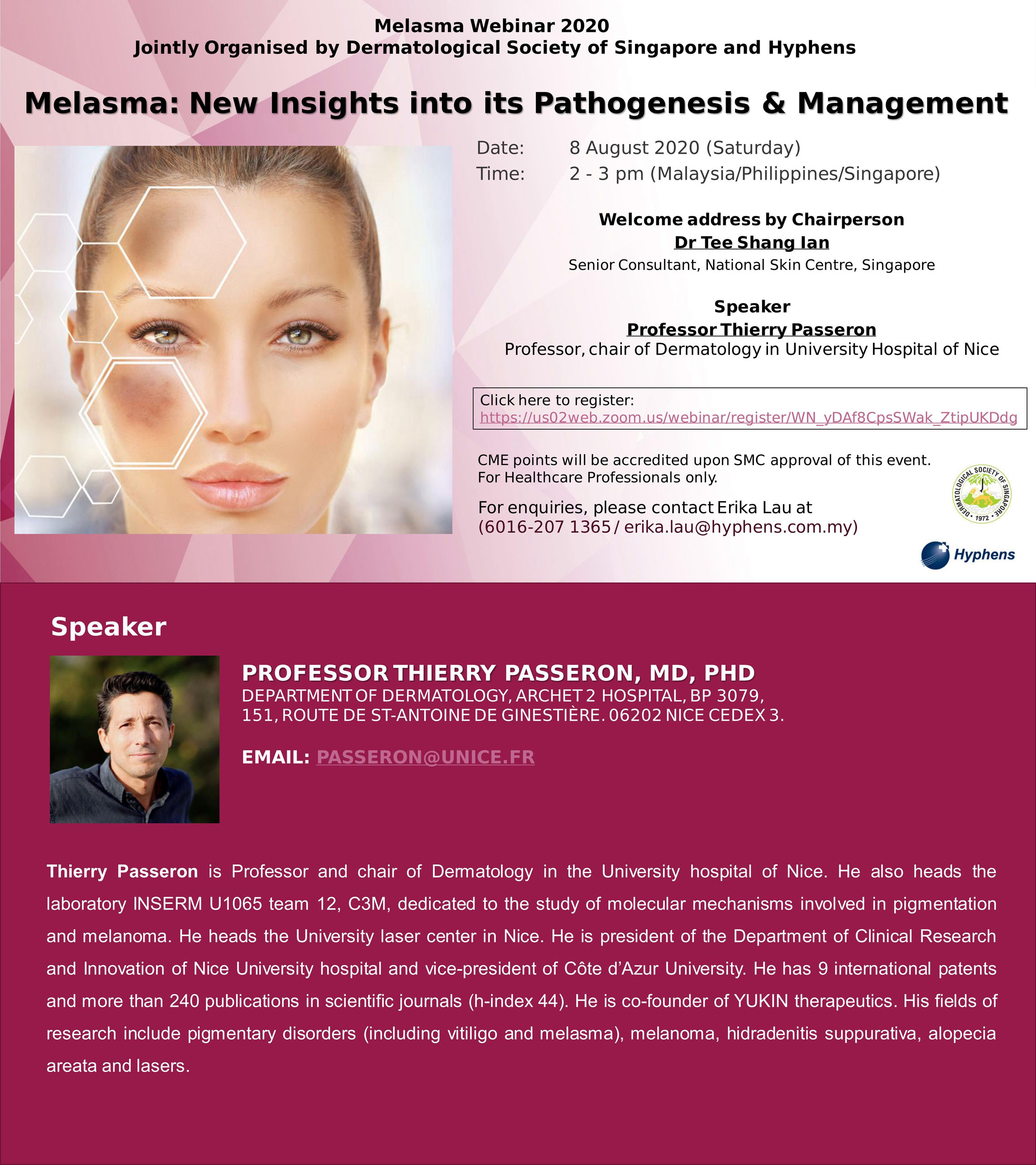 Melasma: New insights into its Pathogenesis & Management @ Virtual