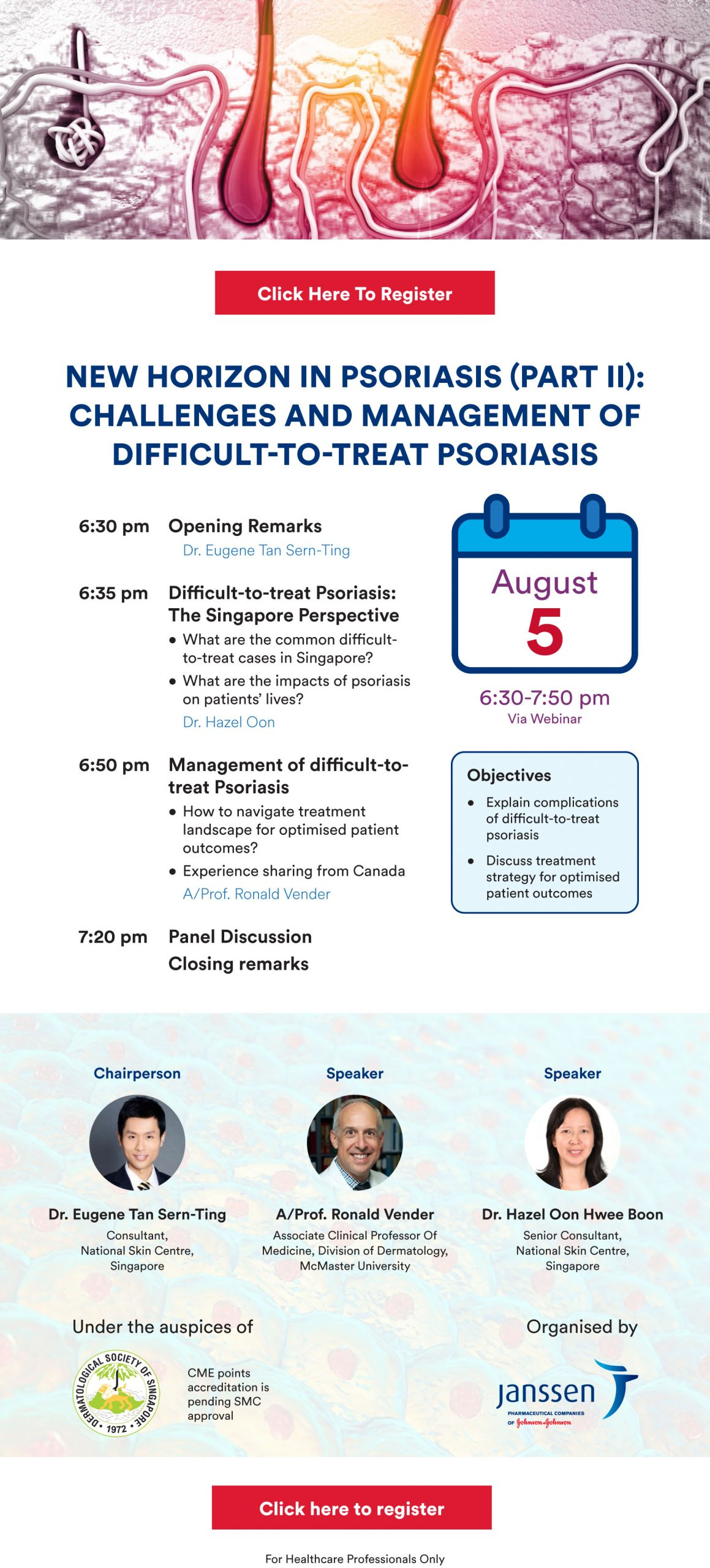 New Horizon in Psoriasis II:  Challenges and Management of Difficult-to-treat Psoriasis @ Virtual