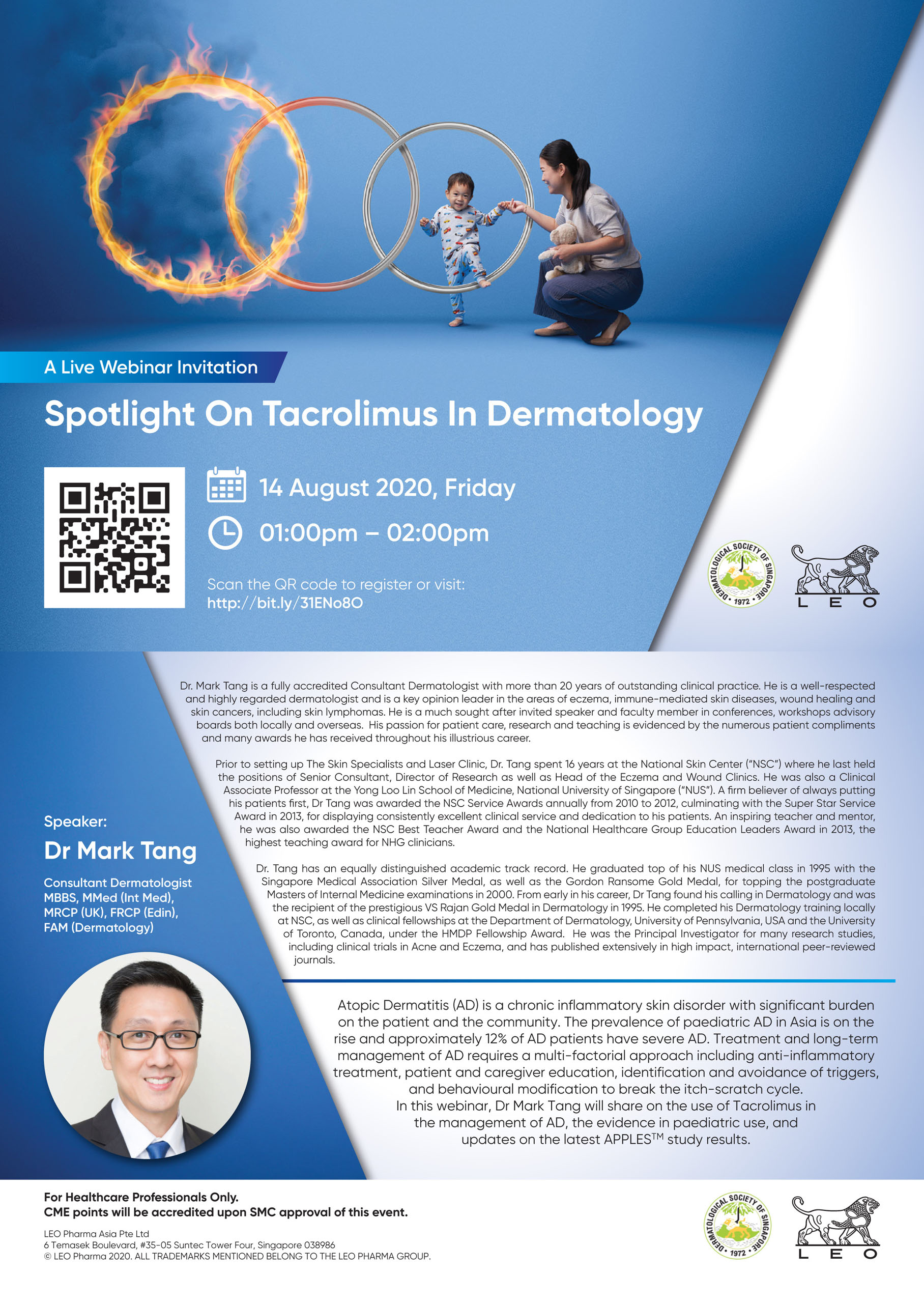 Spotlight on Tacrolimus in Dermatology @ Virtual