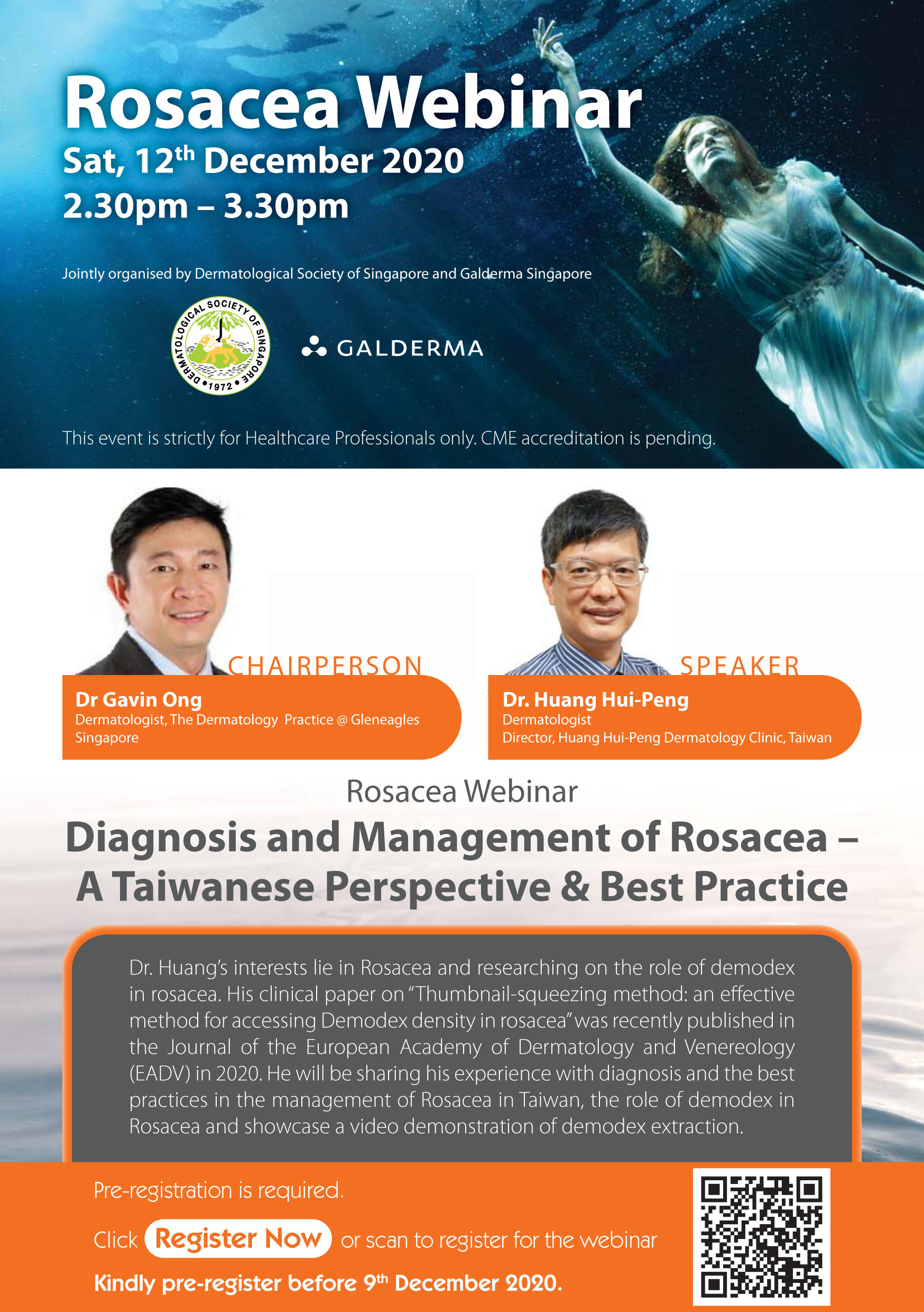 Diagnosis and Management of Rosacea - A Taiwanese Perspective & Best Practice @ Virtual