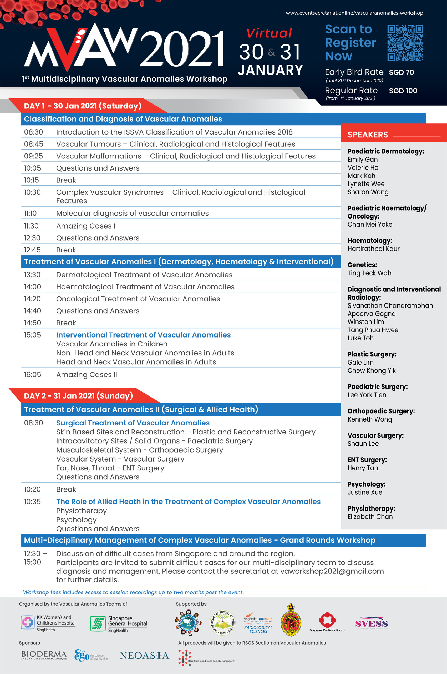 1st Interdisciplinary Vascular Anomalies Workshop @ Virtual
